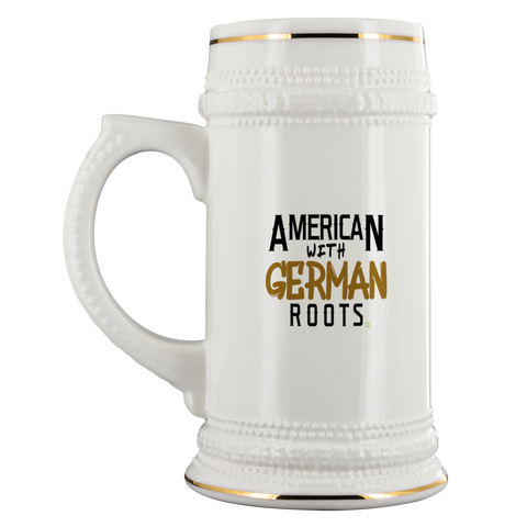 """American With German Roots"" 22 oz. Beer Stein"