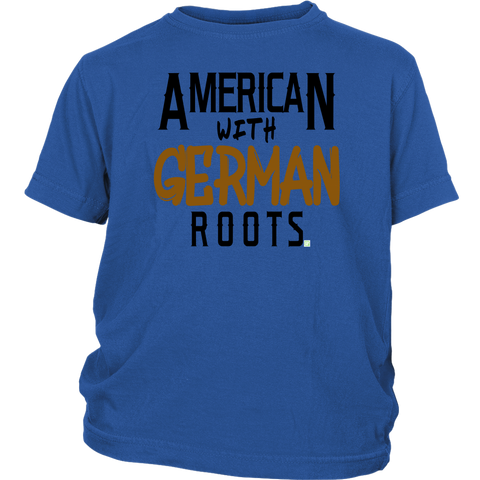 "Image of ""American With German Roots"" Youth Shirt"