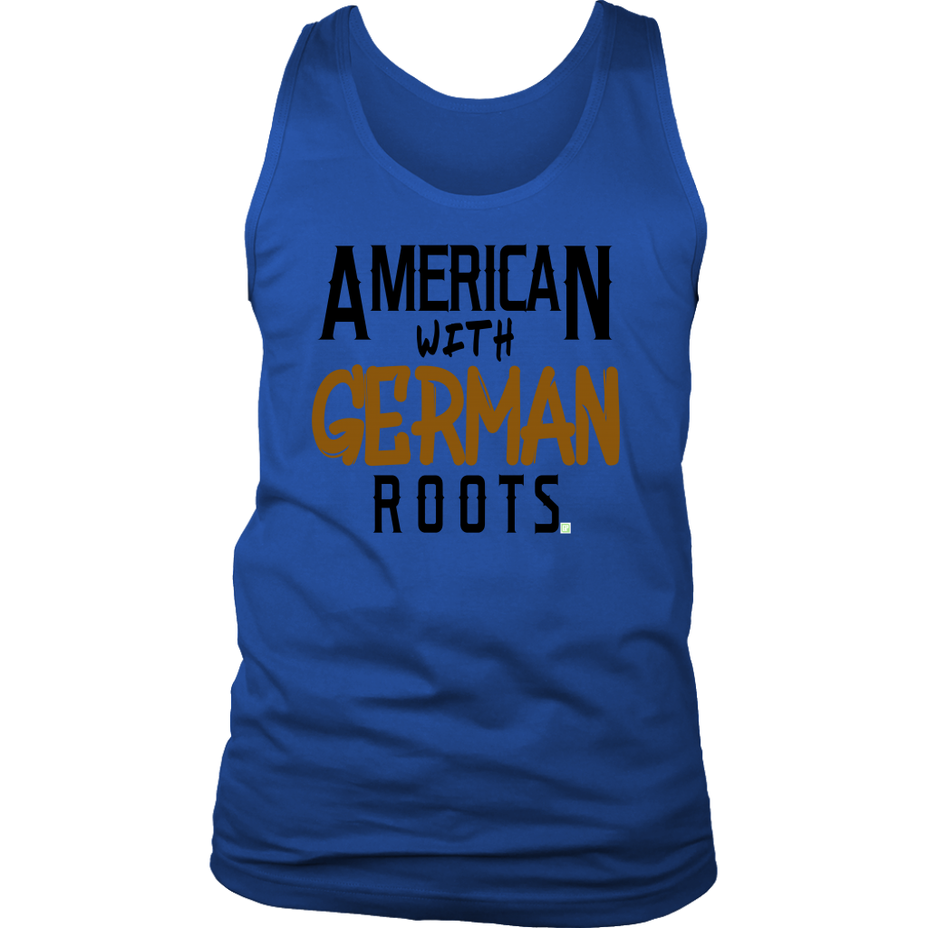 """American With German Roots"" Men's Tank"