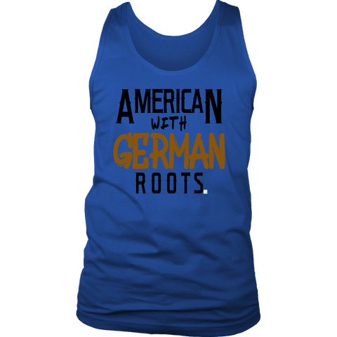 "Image of ""American With German Roots"" Men's Tank"