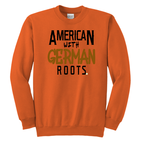 """American With German Roots"" Youth Crewneck Sweatshirt"