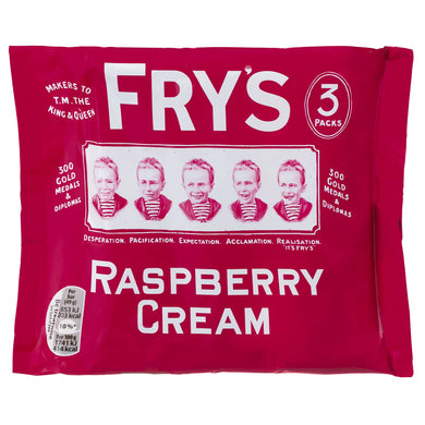 Fry's Raspberry Cream 3 Pack (147g)