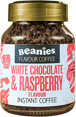 Beanies- White Chocolate Raspberry Instant Coffee (50g)
