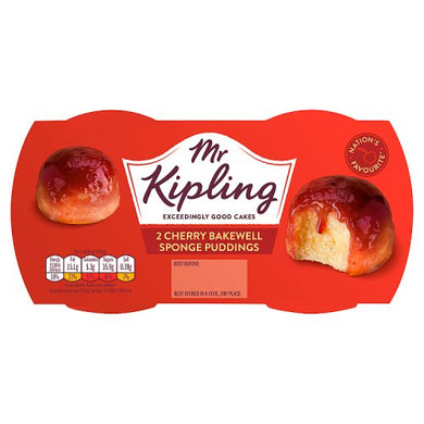 Mr. Kipling Cherry Bakewell Sponge Puddings Twin Pot (190g)