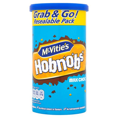 McVities Hobnobs- Milk Chocolate Tube (205g)