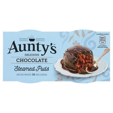 Aunty's Chocolate Steamed Puds Twin Pot (190g)