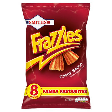 Smiths Frazzles - Crispy Bacon 8 Pack (144g)