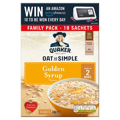 Quaker Oat So Simple Golden Syrup (18 Pack)