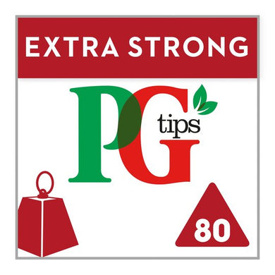 PG Tips Extra Strong Tea Bags (80)