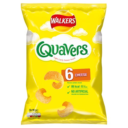 Walkers Quavers (6 Pack)