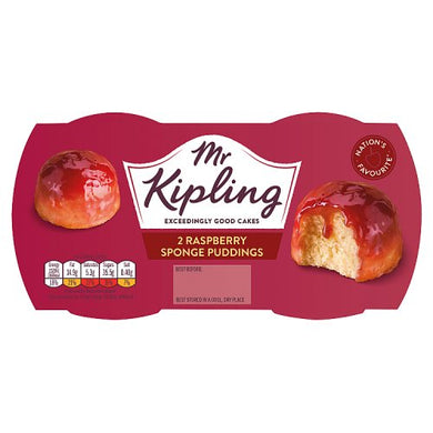 Mr. Kipling Raspberry Sponge Puddings Twin Pot (190g)