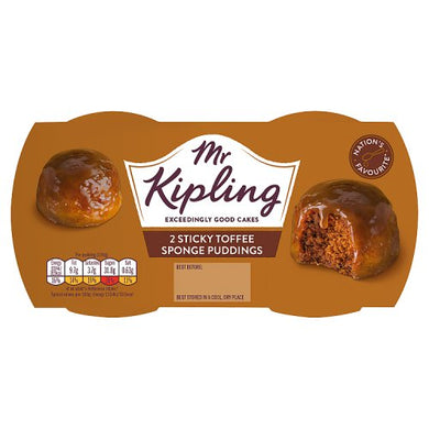 Mr. Kipling Sticky Toffee Puddings Twin Pit (190g)