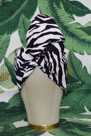 Wild Zebra- Wired Turban Headband