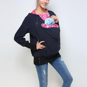 Multifunctional Kangaroo Solid Thick Warm Hoodie