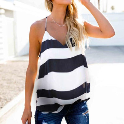 Maternity Striped Sling Top