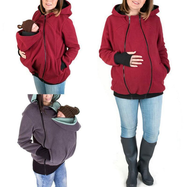 Clearance Maternity Multifunctional Kangaroo Hoodie