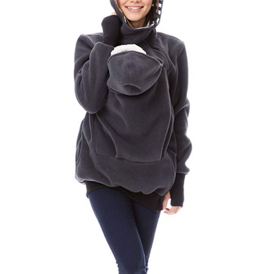 Women's Maternity Casual Kangaroo Long Sleeve Keep Warm Sweatshirt