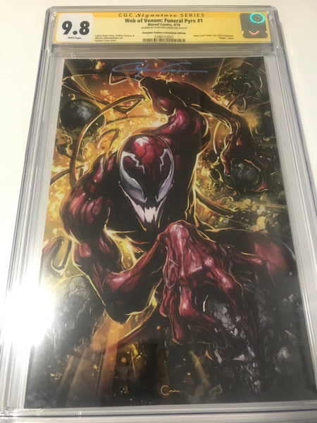 Web of Venom Funeral Pyre 1 NYCC Exclusive - CGC - Heroes Cave
