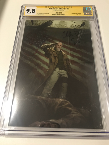 Undiscovered Country 1 Midtown Comic Virgin Variant - CGC Signed By Snyder and Soule - Heroes Cave