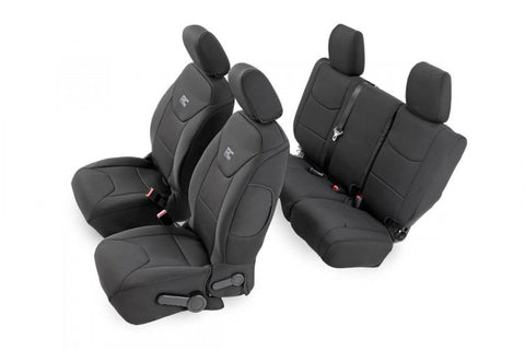 JEEP NEOPRENE SEAT COVER SET | BLACK [08-10 WRANGLER JK UNLIMITED]
