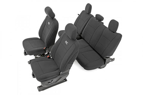 FORD NEOPRENE FRONT & REAR SEAT COVER | BLACK [15-19 F-150]