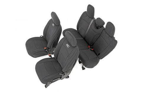JEEP NEOPRENE SEAT COVER SET | BLACK [18-19 WRANGLER JL]