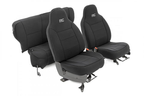 JEEP NEOPRENE SEAT COVER SET | BLACK [84-01 XJ]