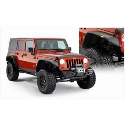 Bushwacker Flat Style JK Wrangler Fender Flare Set (Paintable)