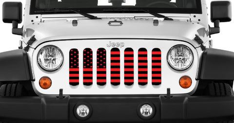 Custom Color American Flag Grille Insert