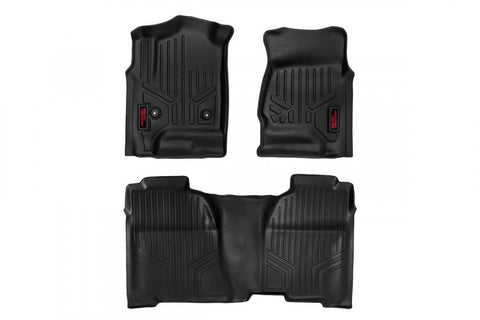 HEAVY DUTY FLOOR MATS [FRONT/REAR] - (15-19 CHEVY COLORADO / GMC CANYON CREW CAB)
