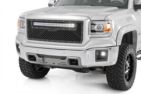 GMC MESH GRILLE W/30IN DUAL ROW BLACK SERIES LED (14-15 SIERRA 1500)