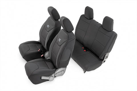 JEEP NEOPRENE SEAT COVER SET | BLACK [07-10 WRANGLER JK | 2 DOOR]
