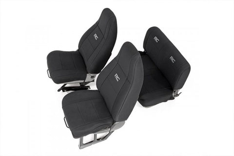 JEEP NEOPRENE SEAT COVER SET | BLACK [87-90 WRANGLER YJ]