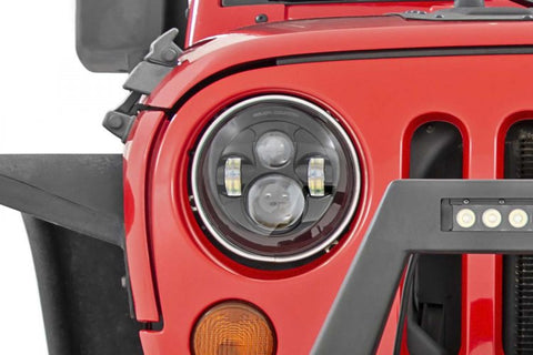 JEEP 7IN LED PROJECTION HEADLIGHTS (WRANGLER TJ, JK)