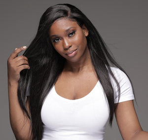Virgin Brazilian Straight Undectable Full Lace Wig