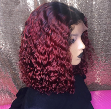 Load image into Gallery viewer, Ombre #1B/99J Bob Lace Frontal Wig