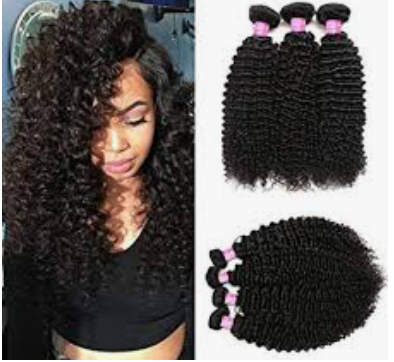 Raw Virgin Brazilian Curly Three and Four Human Hair Bundle Deals