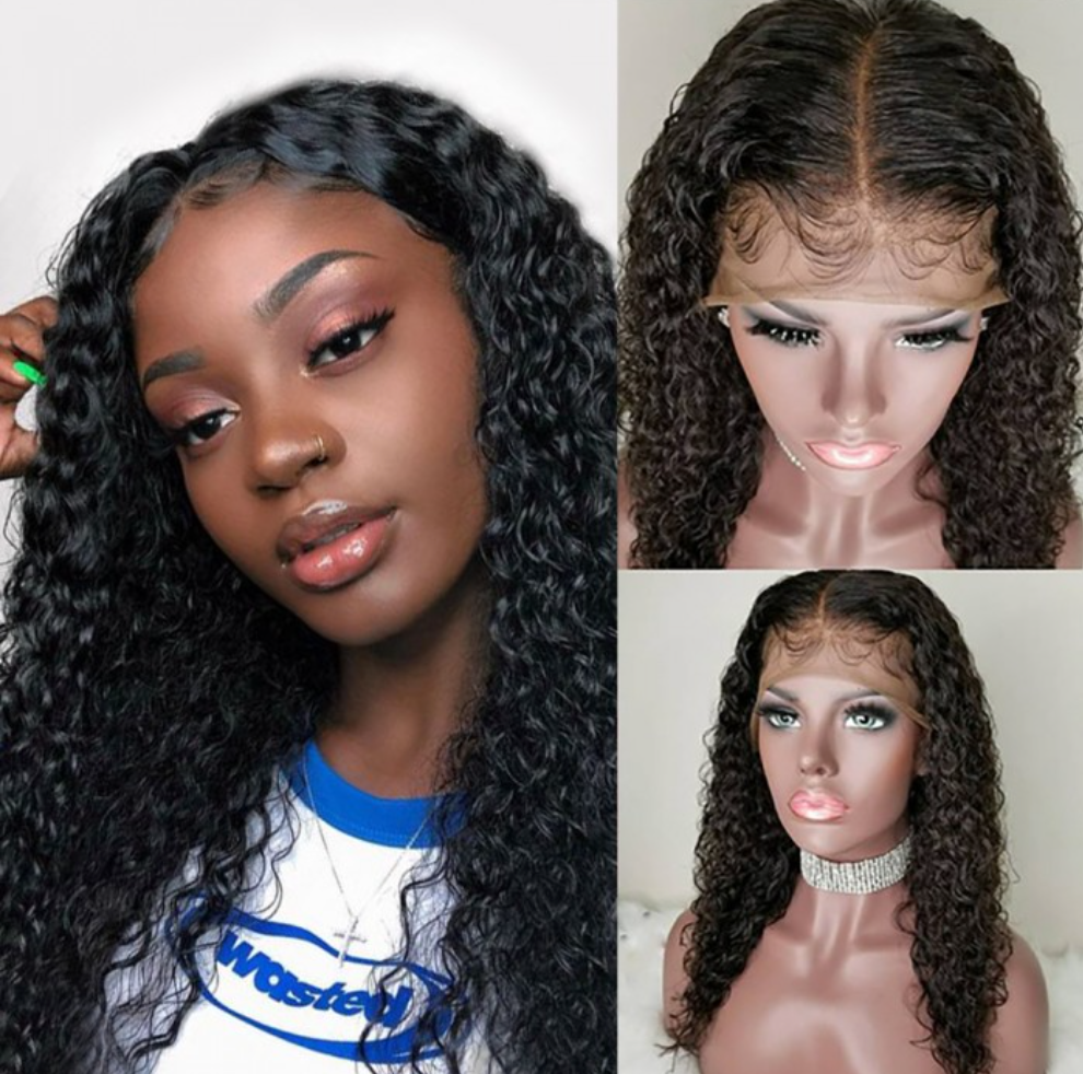 Pre-Plucked Italian Curly Human Hair Frontal Wig