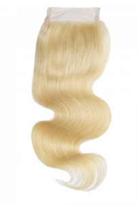 Blonde Human Hair Closure