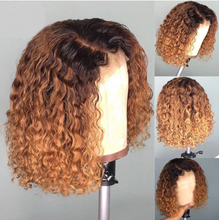 Load image into Gallery viewer, Ombre #1B/30 Pre-plucked Water Wavy Bob Lace Front Wig