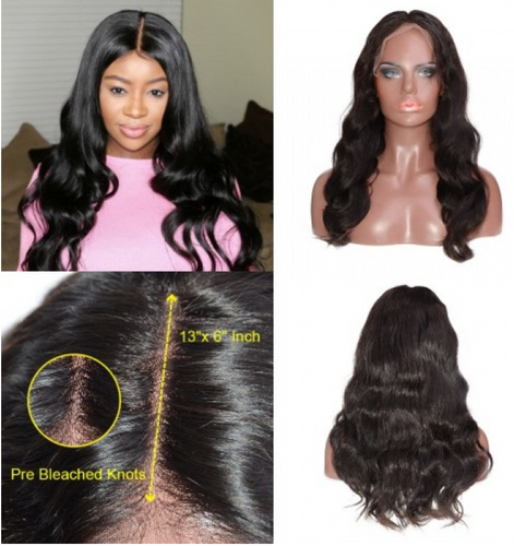 13x6 Frontal Lace Wig 150% Density Body Wave Virgin Hair