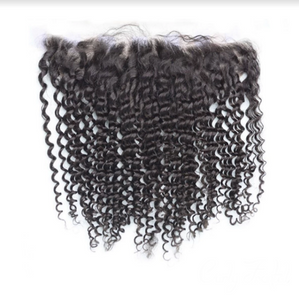 Raw Virgin Brazilian Curly Human Hair Frontal
