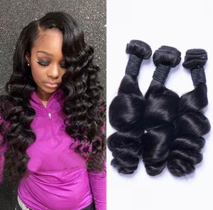Raw Virgin Brazilian Wavy Hair Three and Four Human Hair Bundle Deals