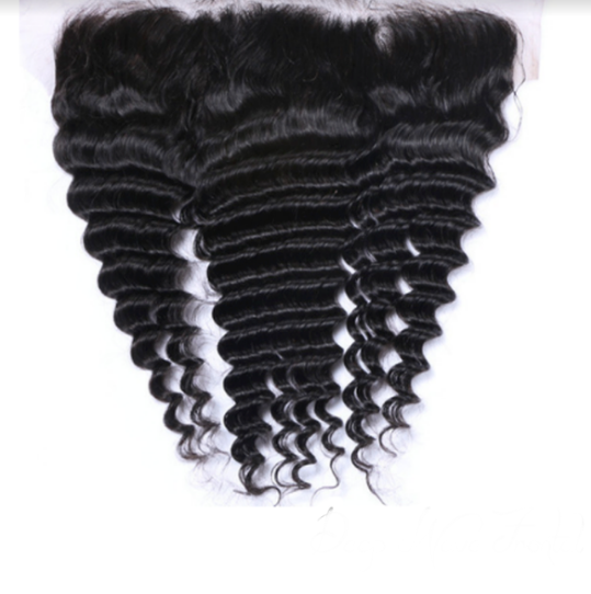 Raw Virgin Brazilian Deep Wave Human Hair Frontal
