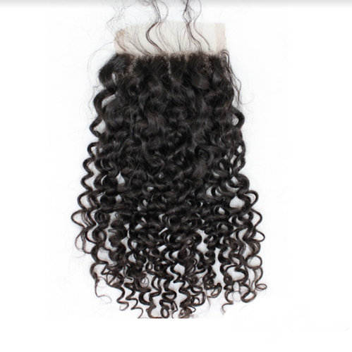 Raw Virgin Brazilian Curly Human Hair Closure