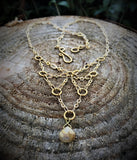 Golden Rutilated Quartz - Preistess Necklace