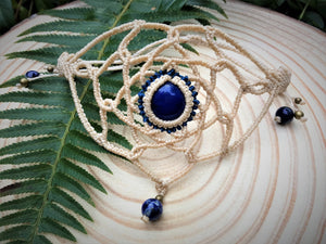 One Of A Kind ~ Mandala Arm Band ~ Adjustable Lapis Bracelet