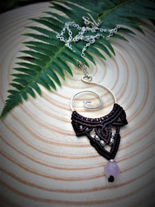 Koru Necklace with Rose Quartz