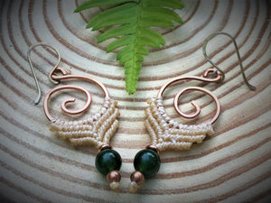 Koru Earrings with Thai Jade