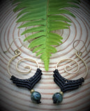 Koru Earrings with Seraphinite Gemstone